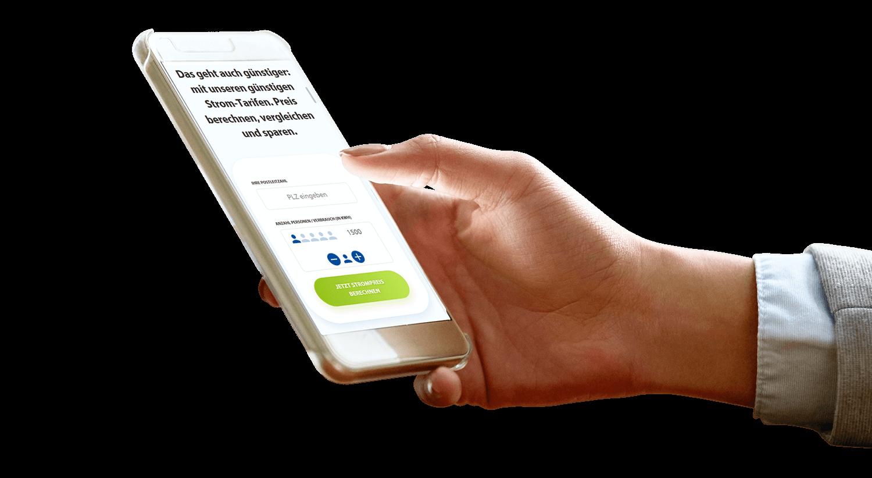 Enni Website auf dem Smartphone
