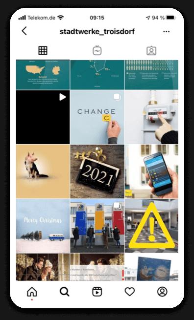 Instagram STEPS-Kalender Stadtwerke Troisdorf