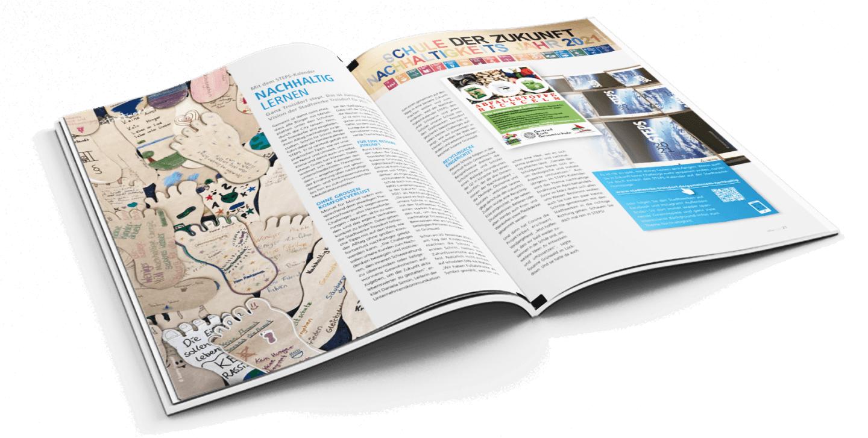 Magazin-Mockup STEPS-Kalender Stadtwerke Troisdorf